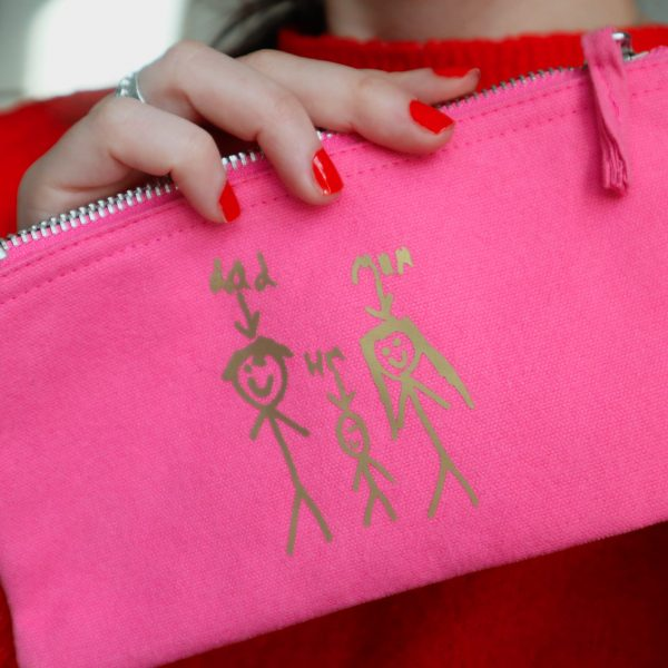 TOTO & FIFI - personalised purse kids drawings