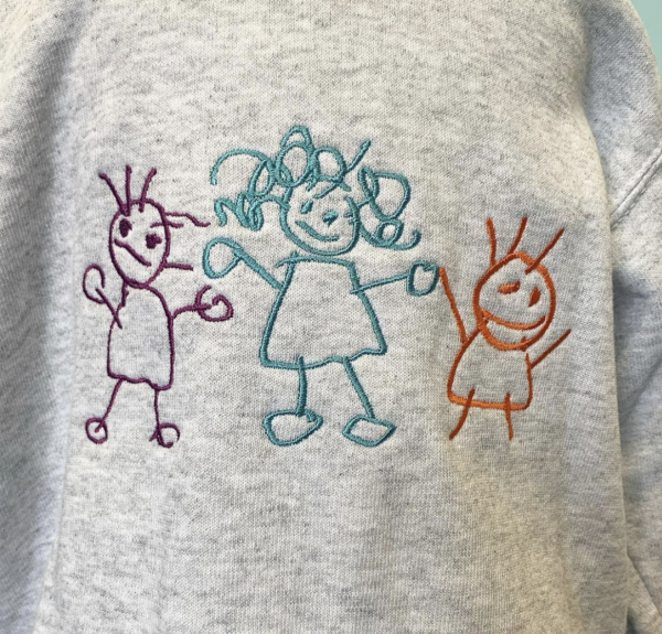 Embroidered Kids drawing sweater